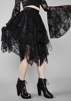 Gothic Outfits, Edgy Outfits, Satin Skirt, Lace Skirt, Cameo Dress, Lira Clothing, Gothic Clothing, Leopard Skirt, Black Midi Skirt