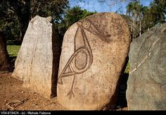 Usa, Caribbean, Puerto Rico, Central Mountains, Parque Ceremonial Indigena Caguana Taino Ceremonial Site, Petroglyphs inside Taino Ball Courts