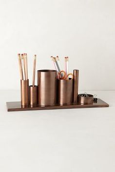 modern bronze desk set