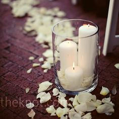 petals on the tables