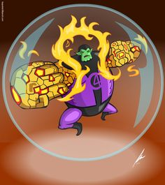 my Imagination with Super Skrull Character combine with Gear 4 Abbility