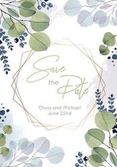 Download this Premium Vector about Save the date watercolor template with eucalyptus, and discover more than 15 Million Professional Graphic Resources on Freepik. #freepik #wedding #weddinginspiration #weddinginvitation #savethedate #weddingcard #invitation #weddinginvitationtemplates #weddinginvitationdesign #weddinginvitationdiy #weddinginvitationvector #weddinginvitationcarddesign Wedding Invitation Card Design, Wedding Invitations, Beautiful Lettering, Save The Date, Wedding Cards, Wedding Inspiration, Watercolor, Flower Frame, Vector Background