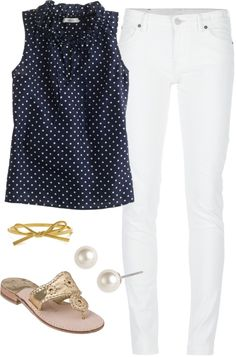 """Dots"" by classically-preppy ❤ liked on Polyvore"