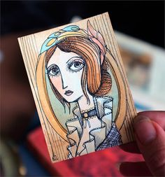 Alexandre Dumas The Lady of the Camellias  ACEO by MrsPeggottyArts, €20.00