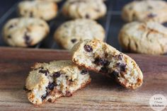 Paleo Chewy Chocolate Chip Cookies | These are amazing!!! So easy but only makes 12