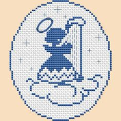 Blue Angel free cross stitch pattern