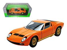 1971 Lamborghini Miura P400 Orange 1/18 Model Car by Welly * You can get more details by clicking on the image. (This is an affiliate link and I receive a commission for the sales)