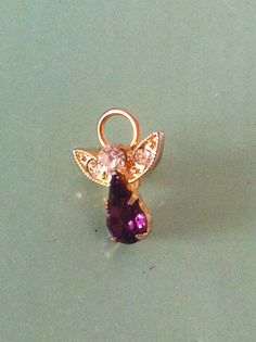 gold tone and amethyst type stone 50s antique by yorkshiretreasure