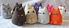 Set Twee Katten amigurumi Kittens door RoodWitBlauw op Etsy