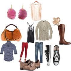 fun, created by #frozensparrow on #polyvore. #fashion #style Hollister Co. J.Crew