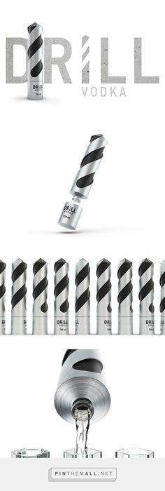 DRILL Vodka packaging design by Stas Grinyaev - https://www.packagingoftheworld.com/2018/04/drill-vodka.html