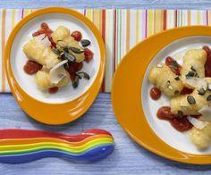 Rezept: Kürbis-Gnocchi mit Tomatensauce