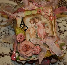 Garden Fairy mini I made with these victorian chipboard pieces.