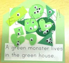 Where Do Monsters Live (book-making in preschool)