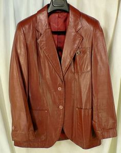 Vintage Aigner leather blazer jacket