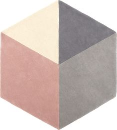 Hagen Large Hexagon Wool Rug 150 x 180cm, Pink and Grey from Made.com. Grey/Pink. Introducing Hagen, a super-sleek hexagonal rug in sophisticated co..
