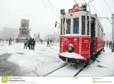Istanbul on a snowy day. Taksim,one of Istanbul's busy centers, is under snow. Snowy Day, Winter Snow, Digital Illustration, Istanbul, Sims, Stock Photos, Mantle, The Sims