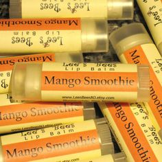 Mango Smoothie Lip Balm  Three Tubes of Beeswax Lip Salve Chapstick by LeesBeesNJ, $8.25 - This is a delicious blend of mangos, sugar, cream, vanilla and the barest touch of cinnamon. Yum!!