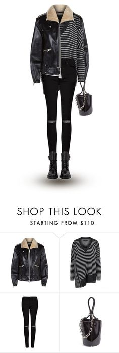 """""""all black"""" by explorer-14148396987 on Polyvore featuring AllSaints and Alexander Wang"""