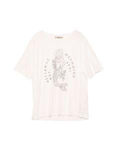 T-shirt com estampado de sereia - T-shirts - Vestuário - Mulher - PULL&BEAR Portugal