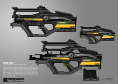 """The original design for the L-Star was titled the ASW or """"Advanced Scatter Weapon"""". This weapon design was meant to compliment the ballistic/projectile weapons with an energy based rifle. As we tested it more, it ultimately fit the role of an Anime Weapons, Sci Fi Weapons, Weapon Concept Art, Fantasy Weapons, Weapons Guns, Guns And Ammo, Titanfall Cosplay, Future Weapons, Spaceship Art"""