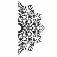 - Home Vinyl Kit Mandala. Teens Mandala Vinyl Kit – -Home Vinyl Kit Mandala. - Home Vinyl Kit Mandala. Mandala Doodle, Easy Mandala Drawing, Mandala Art Lesson, Simple Mandala, Doodle Art Drawing, Easy Doodle Art, Drawing Ideas, Mandala Tattoo Design, Half Mandala Tattoo