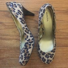 Like New! Merona Leopard Print Pumps Like new condition...worn one time indoors. Merona leopard print pumps. Size:10. Merona Shoes Heels