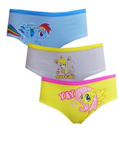 My Little Pony Magical Friendship 3 Pack Hipster Briefs Loved My Little Pony as a young girl and still do? Try these fun hipste...