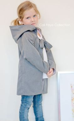 Raglan Hooded Coat PDF pattern and tutorial by CaliFayeCollection