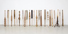 Vincent Kohler's carved Baseball bats