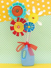cute project for preschoolers to teach re-use