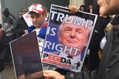 """""""Trump Is Right"""" Posters At British Anti-Islam March - BuzzFeed News"""