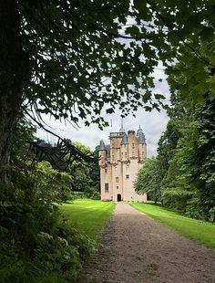 "Craigievar Castle, Scotland    ""A true fairytale castle where the     princess picks her finger..."""