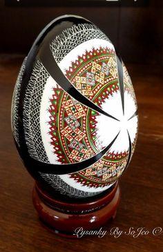 Rushnyk Ukrainian Easter Egg Pysanky By So Jeo This beautiful Rushnyk design originally came from another artist Mary Trach-Holadyk , Ukraine, from Iryna