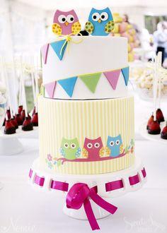 Owl Themed Dessert Table | Owl Cake