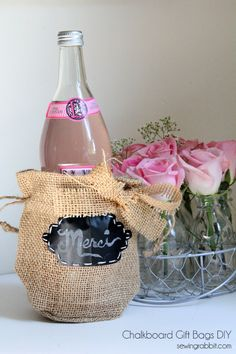 Easy Burlap and Chalkboard Gift Bags DIY � Teacher Appreciation