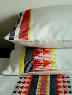 Set of Hand Woven Pillow Covers by milkaLOOM on Etsy