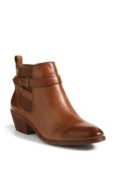 these perfect cognac almost-flat-but-not-completely booties are 40% off!