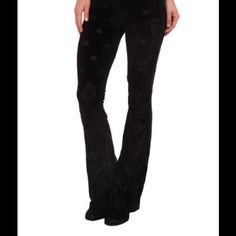Free People Velvet Babybell Pants Brand new!!! Hard to find, sold out....super cute!!! Black Free People Pants