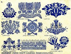Click on the PDF FILE below to print out two pages of Czech motifs