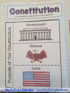 U.S. Constitution is a Social Studies lesson designed to teach upper elementary students about the historical context in which the document was written, and why we have a Constitution. Students read an original, content-rich informational text about the Constitution. They use information in the text to create two foldables. Students then apply their knowledge to a constructed-response writing prompt in which they must cite their evidence using details in the text.