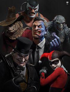 Batman TAS rogues by Rafa Grassetti Batman Artwork, Batman Wallpaper, Batman Universe, Comics Universe, Comic Books Art, Comic Art, Math Comics, Comic Villains, Gotham Villains