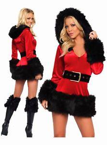 e1ffb99ea04 Women S Plus Size Christmas Santa Mini Dress Costume Belt White Black  Costume