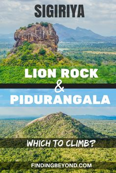 Not all know that there are two rocks to climb in Sigiriya, Sri Lanka. You've heard of Sigiriya Rock (Lion Rock), but what about Pidurangala? Here we compare the two. | Sri Lanka Hikes | Best Sri Lanka Hikes | Best View points in Sri Lanka | Top Sri Lanka attractions | Sri Lanka Highlights | Backpacking Sri Lanka | Sri Lanka on a Budget | Sigiriya Advice | What to do in Sigiriya | Should I climb Lion Rock |