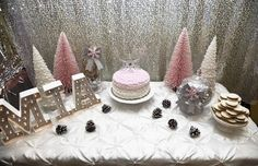 Winter wonderland birthday party! See more party planning ideas at CatchMyParty.com!