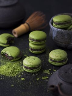 Serve these delectable matcha and azuki macarons at your wedding reception!