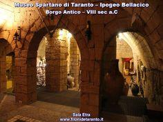 Museo spartano di Taranto - Ipogeo Bellacicco. Nel borgo antico di Taranto (ex città vecchia)