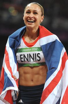 Couldn't stop cheering for Jessica Ennis :)