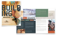 Home Builders and Construction Brochure Template Design by StockLayouts Commercial Construction, New Home Construction, Custom Builders, Home Builders, Brochure Design, Brochure Template, Brochure Ideas, Brochure Inspiration, Design Inspiration