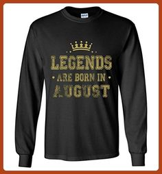 Birthday Gift Legend Are Born in August Long Sleeve - Birthday shirts (*Partner-Link)